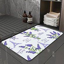 Microfiber Bath Rug Absorbent Bathroom Mats Fabric