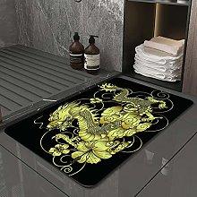 Microfiber Bath Rug Absorbent Bathroom Mats Gold