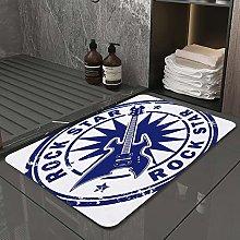Microfiber Bath Rug Absorbent Bathroom Mats Grunge