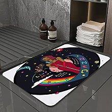 Microfiber Bath Rug Absorbent Bathroom Mats Jazz