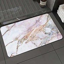 Microfiber Bath Rug Absorbent Bathroom Mats Marble