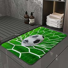 Microfiber Bath Rug Absorbent Bathroom Mats Soccer