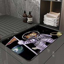 Microfiber Bath Rug Absorbent Bathroom Mats Space
