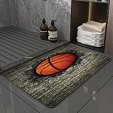 Microfiber Bath Rug Absorbent Bathroom Mats Sports