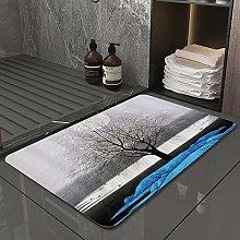 Microfiber Bath Rug Absorbent Bathroom Mats Tree