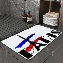Microfiber Bath Rug Absorbent Bathroom Mats Word