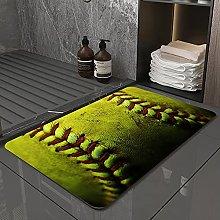 Microfiber Bath Rug Absorbent Bathroom Mats Yellow
