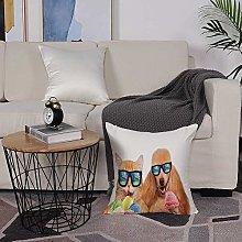 Microfiber cushion cover 50x50 cm,Animal,Cat Dog