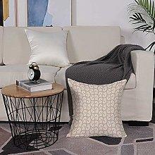 Microfiber cushion cover 50x50 cm,Beige,Swirling