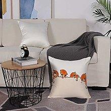 Microfiber cushion cover 50x50 cm,Cat Lover