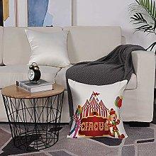 Microfiber cushion cover 50x50 cm,Circus