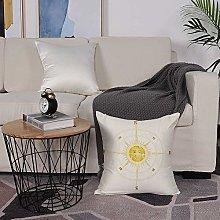 Microfiber cushion cover 50x50 cm,Compass,Vintage
