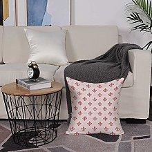 Microfiber cushion cover 50x50 cm,Coral,Checkered