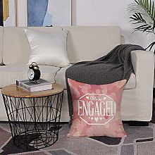 Microfiber cushion cover 50x50 cm,Engagement Party