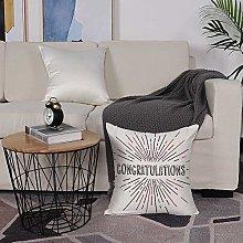 Microfiber cushion cover 50x50 cm,Graduation