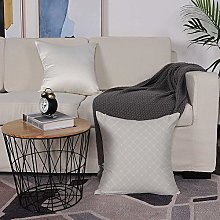 Microfiber cushion cover 50x50 cm,Grey,Simple
