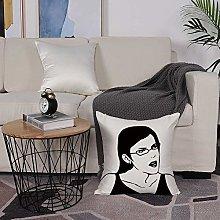 Microfiber cushion cover 50x50 cm,Humor Decor,Girl