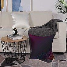 Microfiber cushion cover 50x50 cm,Indigo,Rainbow
