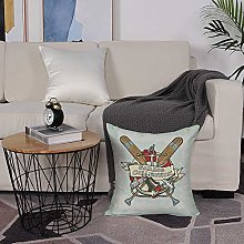 Microfiber cushion cover 50x50 cm,Nautical
