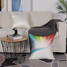 Microfiber cushion cover 50x50 cm,Rainbow,Floral