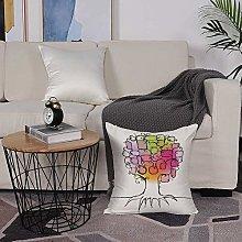 Microfiber cushion cover 50x50 cm,Tree of
