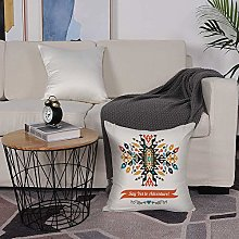 Microfiber cushion cover 50x50 cm,Tribal