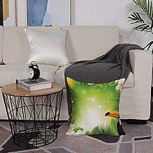Microfiber cushion cover 50x50 cm,Tropical