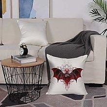 Microfiber cushion cover 50x50 cm,Vampire,Round