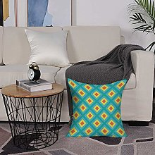 Microfiber cushion cover 50x50 cm,Yellow and