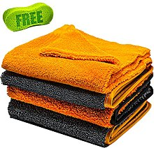 Microfibre Car Drying Cloths 1200gsm Thick & Plush