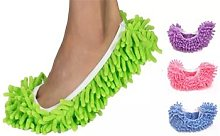 Microfibre Cleaning Mop Slippers: Purple/One Pair