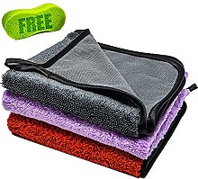 Microfibre Cloth Car Cleaning Kit 600gsm