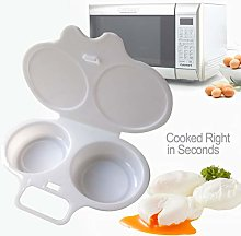 Microwave 2 Egg Poacher with Lid - Healthy and
