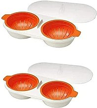 Microwave Egg Cooker - Double Cup - Double Layer -
