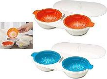Microwave Egg Poacher 2 Cup, Draining Egg Boiler,