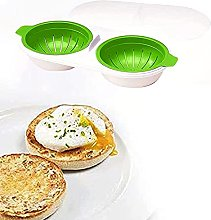 Microwave Egg Poacher Cookware, Dual Caves Poached