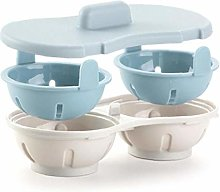 Microwave Egg Poacher Double Cup Dual Cave Egg