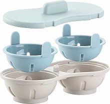 Microwave Egg Poacher, HINMAY Cookware Double Cup