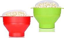 Microwave Silicone Popcorn Popper, 2Pcs