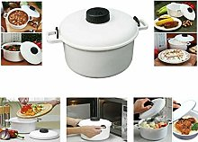Microwave White Rice Cooker with Cup Veg Fish Meat