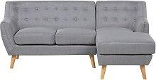 Mid Century Modern 3 Seater L-Shaped Corner Sofa