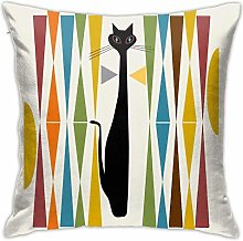 Mid Century Modern Art Polyester Cushion Cover