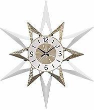 Mid-Century Wall Clock Metal Leaf Wall Clock,