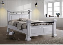 Midland Upholstered Four Poster Bed Ophelia & Co.