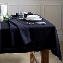 Midnight Blue Tablecloth , Dark Navy, One Size