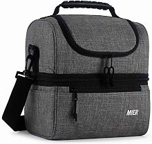 MIER Adult Lunch Box Blue Insulated Lunch Bag