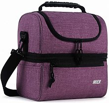 MIER Insulated Lunch Box Large Insulated Cool Tote