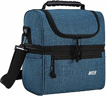 MIER Insulated Lunch Box Medium Cooler Tote Bag