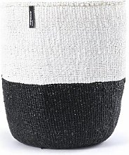 mifuko - White Black Basket Large