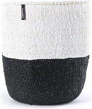 mifuko - White Black Basket Large